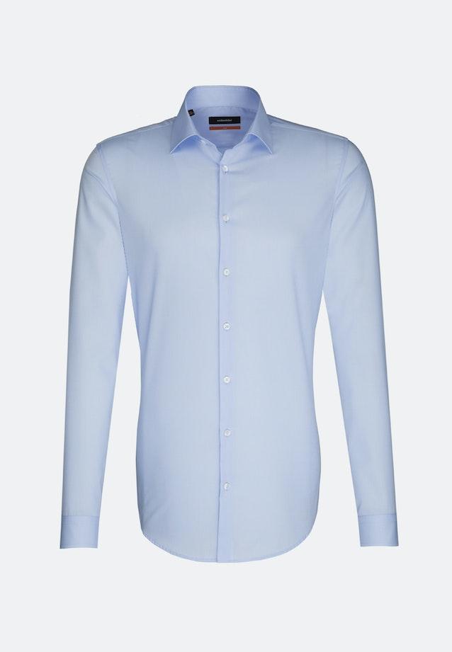 Bügelfreies Popeline Business Hemd in Slim mit Kentkragen und extra langem Arm in Hellblau |  Seidensticker Onlineshop