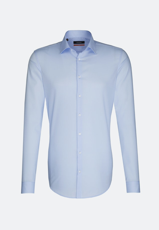 Non-iron Popeline Business Shirt in Slim with Kent-Collar and extra long sleeve in Hellblau    Seidensticker Onlineshop