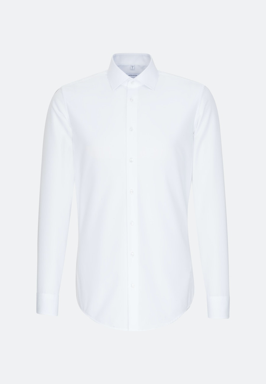 Non-iron Popeline Business Shirt in Slim with Kent-Collar and extra long sleeve in White |  Seidensticker Onlineshop