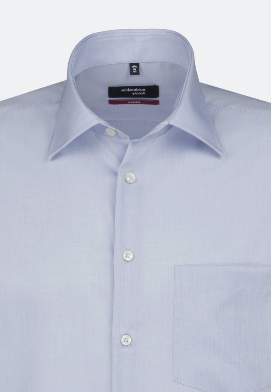 Bügelfreies Chambray Kurzarm Business Hemd in Regular mit Kentkragen in Mittelblau |  Seidensticker Onlineshop