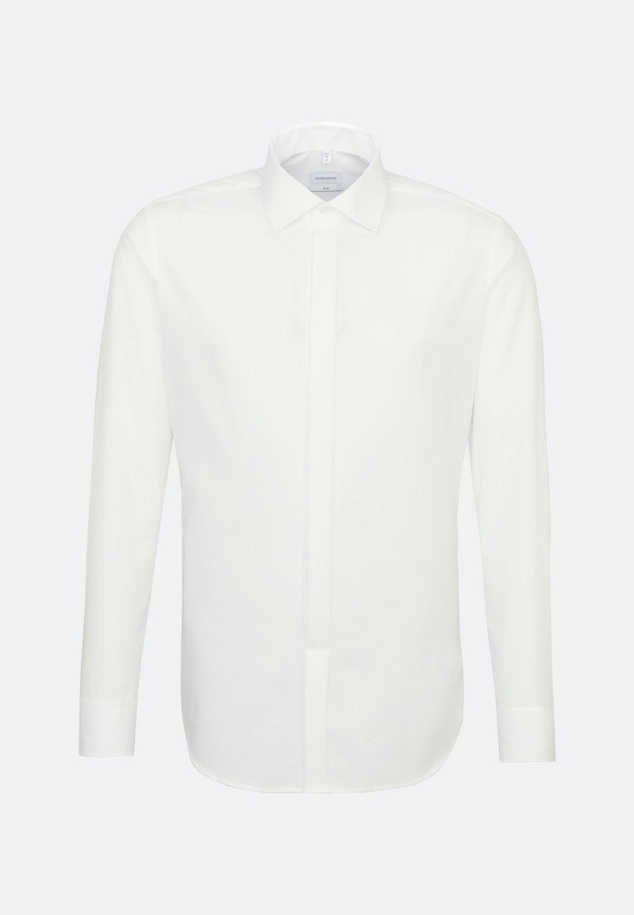Bügelfreies Popeline Smokinghemd in Slim mit Kentkragen in Ecru |  Seidensticker Onlineshop