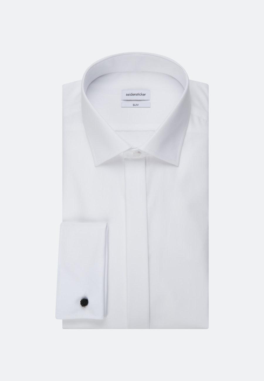 Non-iron Popeline Gala Shirt in Slim with Kent-Collar in White |  Seidensticker Onlineshop
