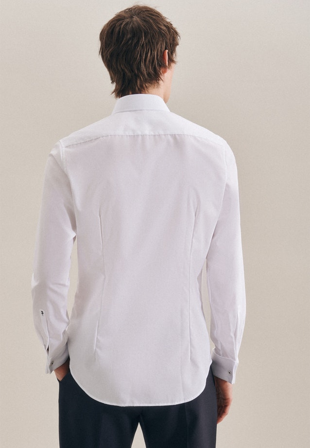 Non-iron Popeline Gala Shirt in Slim with Kent-Collar in White |  Seidensticker Onlineshop