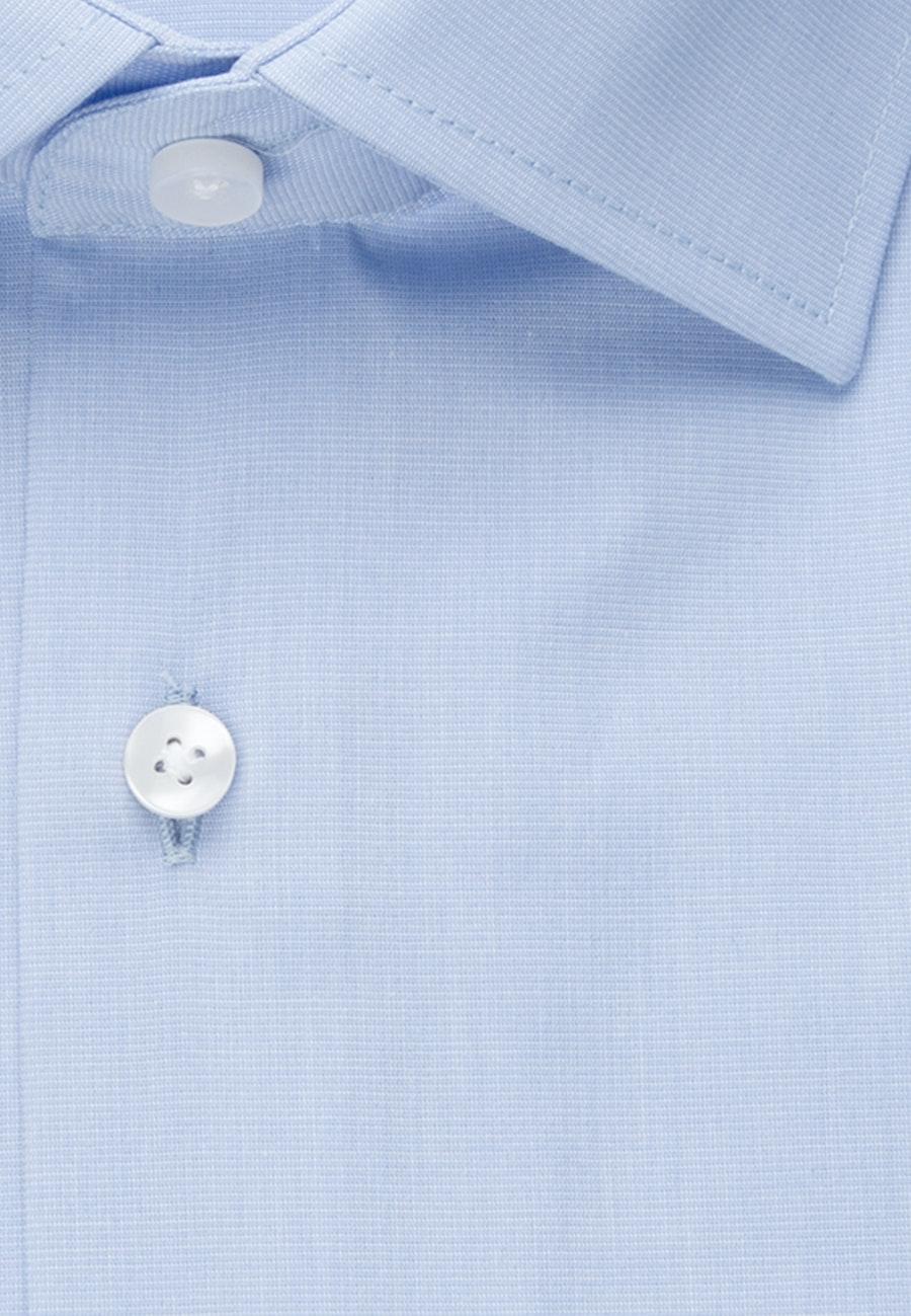 Bügelfreies Fil a fil Business Hemd in X-Slim mit Kentkragen in Hellblau    Seidensticker Onlineshop