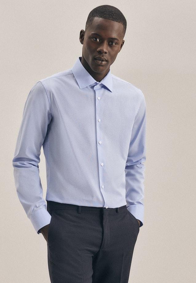 Non-iron Fil a fil Business Shirt in X-Slim with Kent-Collar in Light blue |  Seidensticker Onlineshop