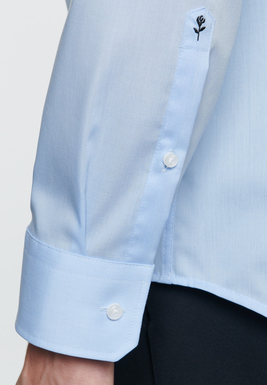 Non-iron Fil a fil Business Shirt in X-Slim with Kent-Collar in Light blue |  Seidensticker Onlineshop