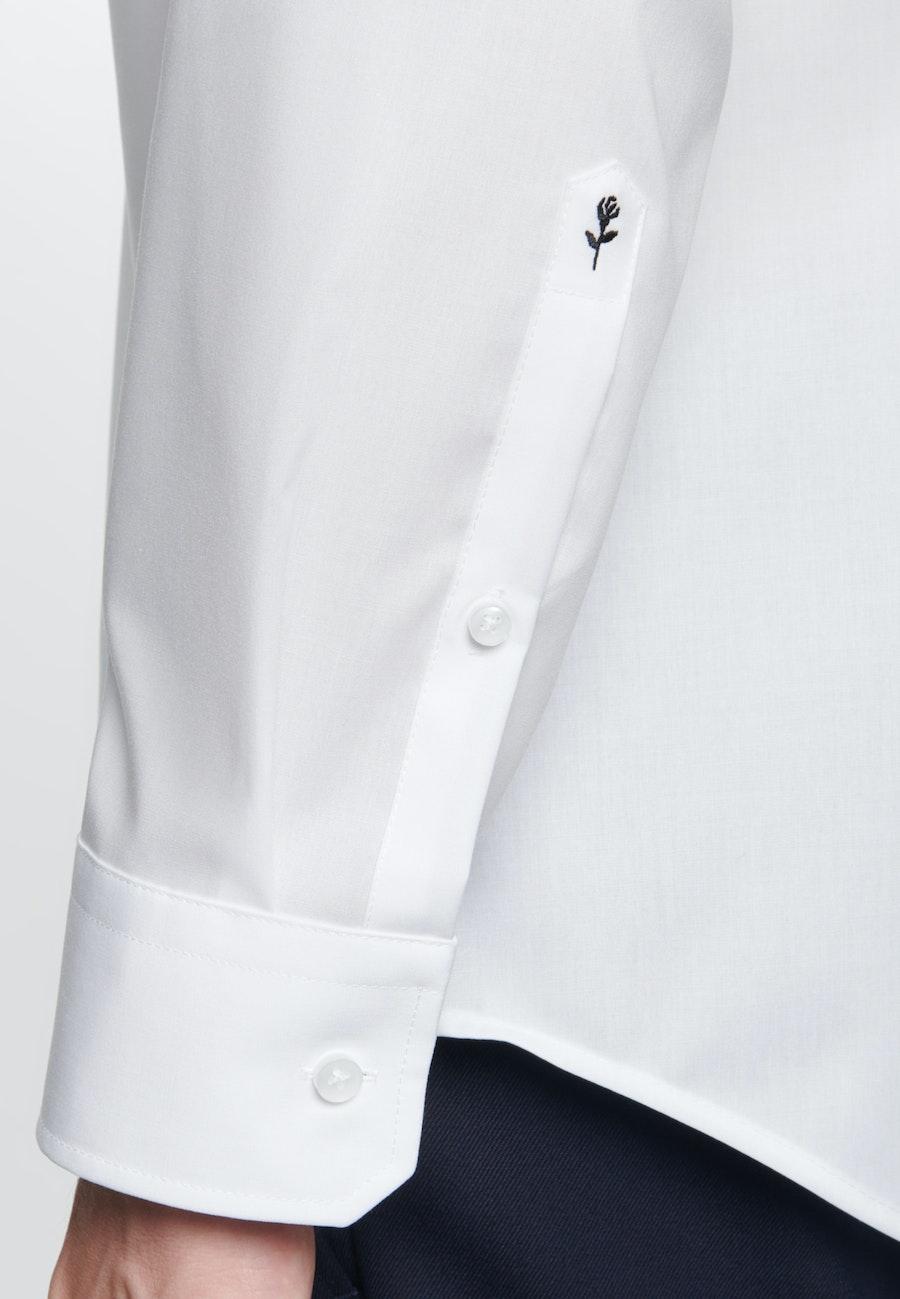 Bügelfreies Fil a fil Business Hemd in X-Slim mit Kentkragen in Weiß |  Seidensticker Onlineshop