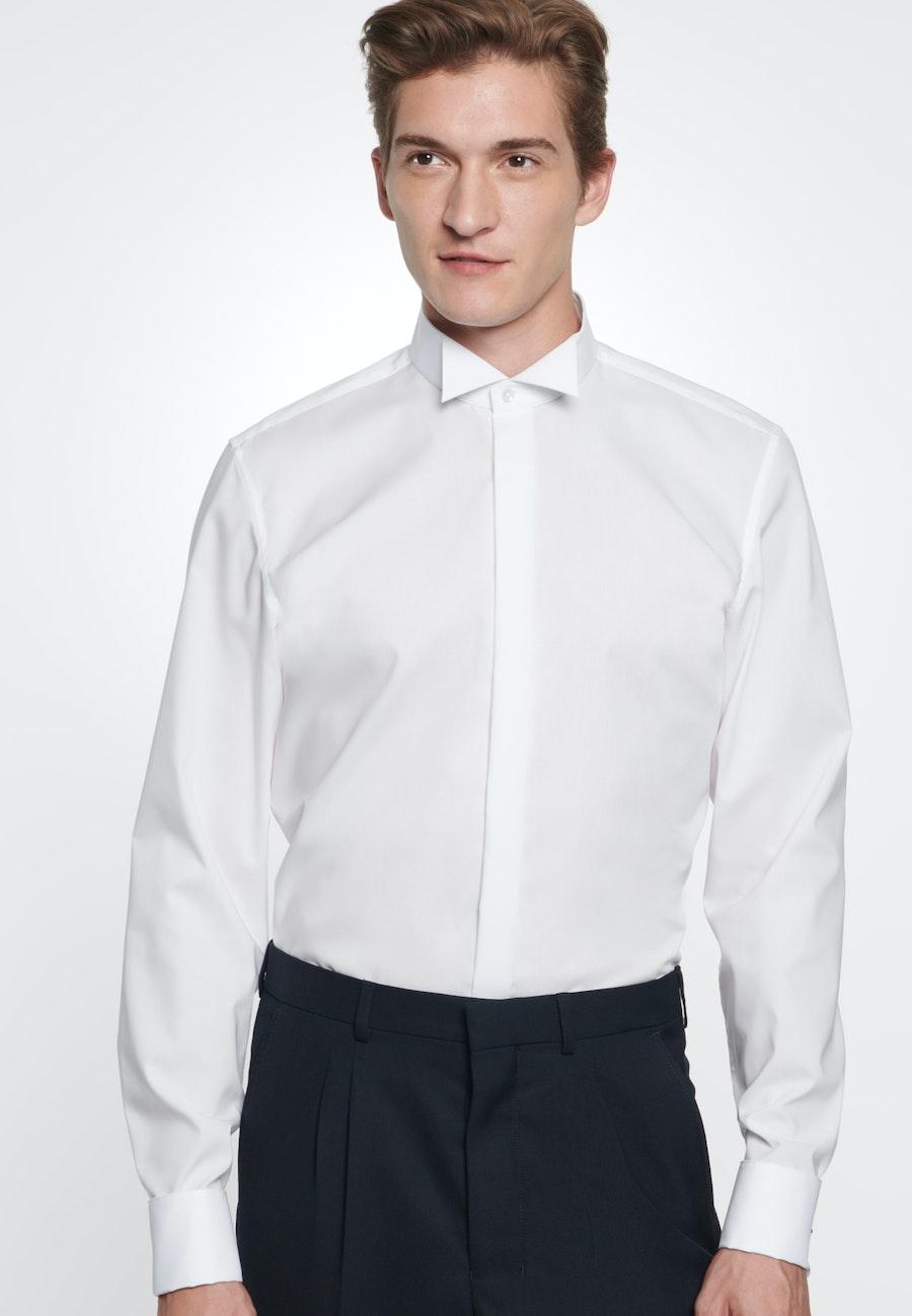 Non-iron Popeline Gala Shirt in Slim with Wing Collar in White |  Seidensticker Onlineshop