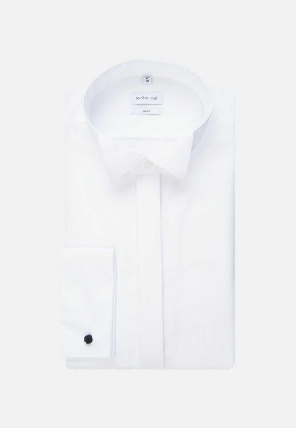 Non-iron Popeline Gala Shirt in Slim with Wing Collar in White |  Seidensticker Onlineshop