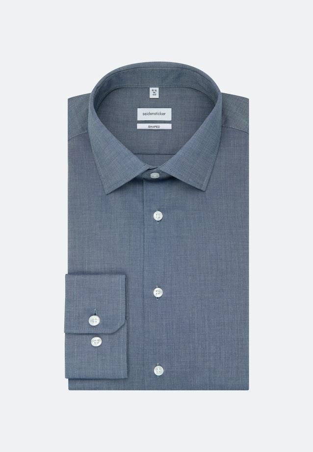 Bügelfreies Fil a fil Business Hemd in Shaped mit Kentkragen in Dunkelblau |  Seidensticker Onlineshop