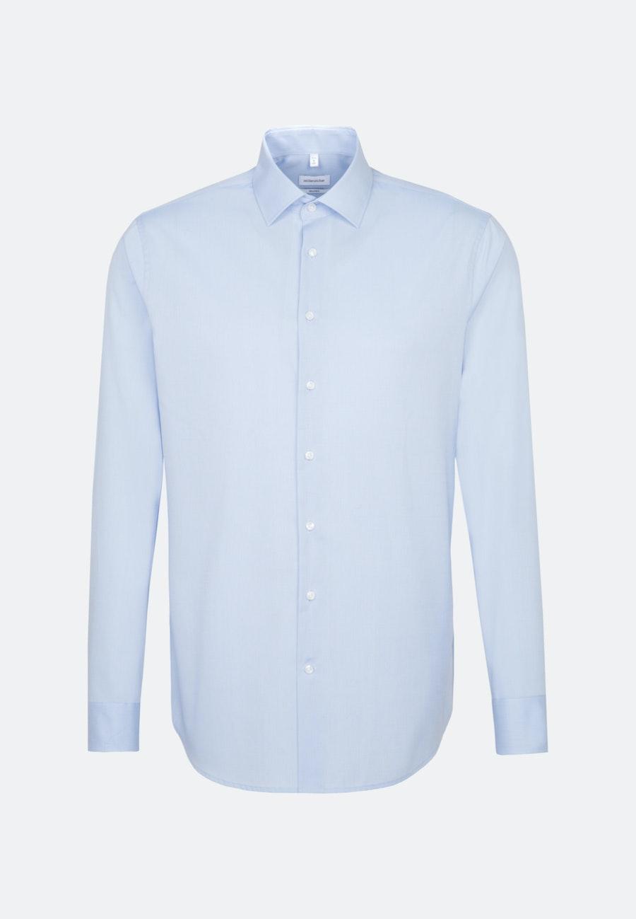 Bügelfreies Fil a fil Business Hemd in Shaped mit Kentkragen in Hellblau    Seidensticker Onlineshop