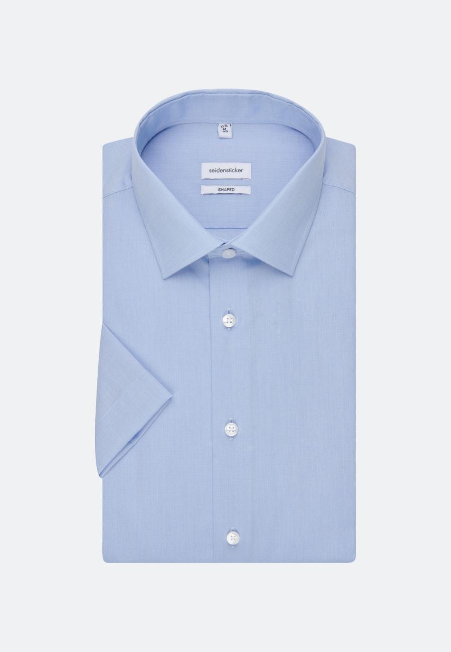 Non-iron Fil a fil Short sleeve Business Shirt in Shaped with Kent-Collar in Light blue |  Seidensticker Onlineshop