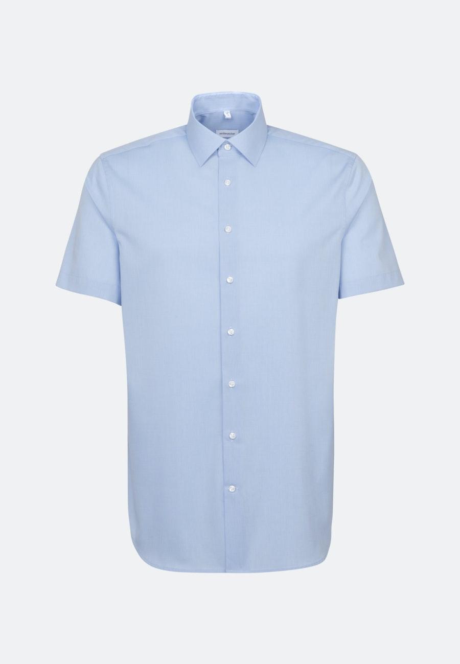 Bügelfreies Fil a fil Kurzarm Business Hemd in Shaped mit Kentkragen in Hellblau |  Seidensticker Onlineshop