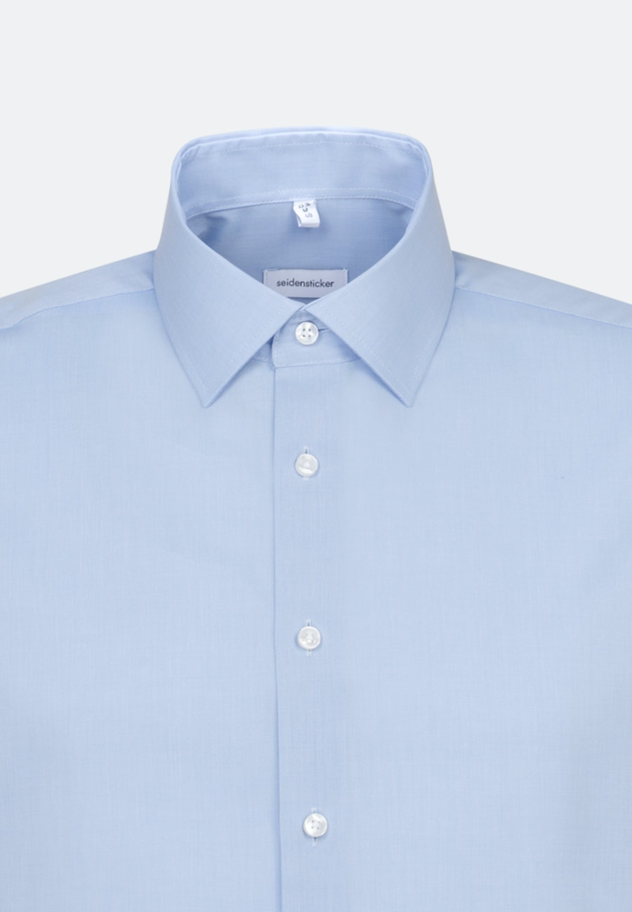 Non-iron Fil a fil Short sleeve Business Shirt in Shaped with Kent-Collar in Light blue |  Seidensticker Onlineshop