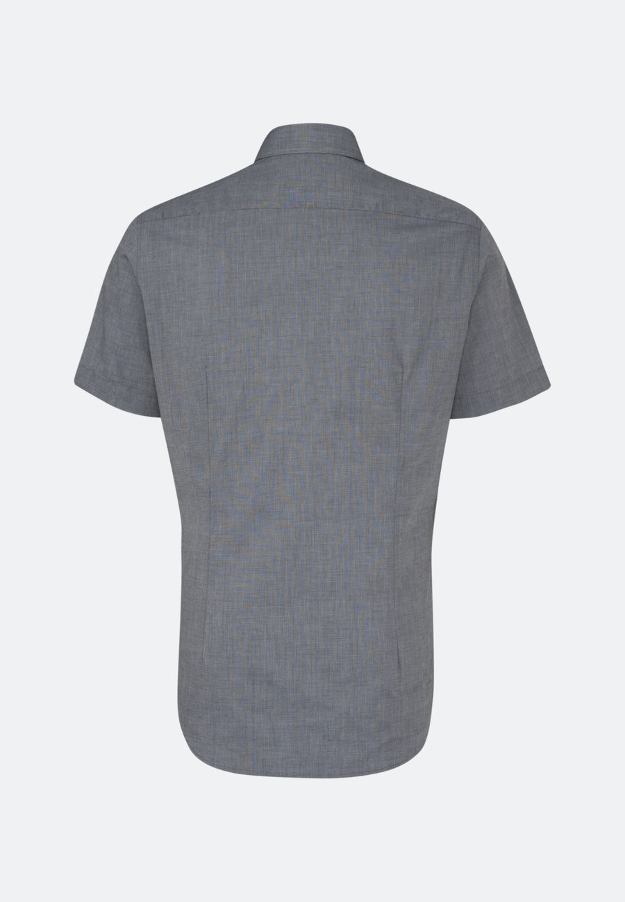 Non-iron Fil a fil Short sleeve Business Shirt in Shaped with Kent-Collar in Grey |  Seidensticker Onlineshop