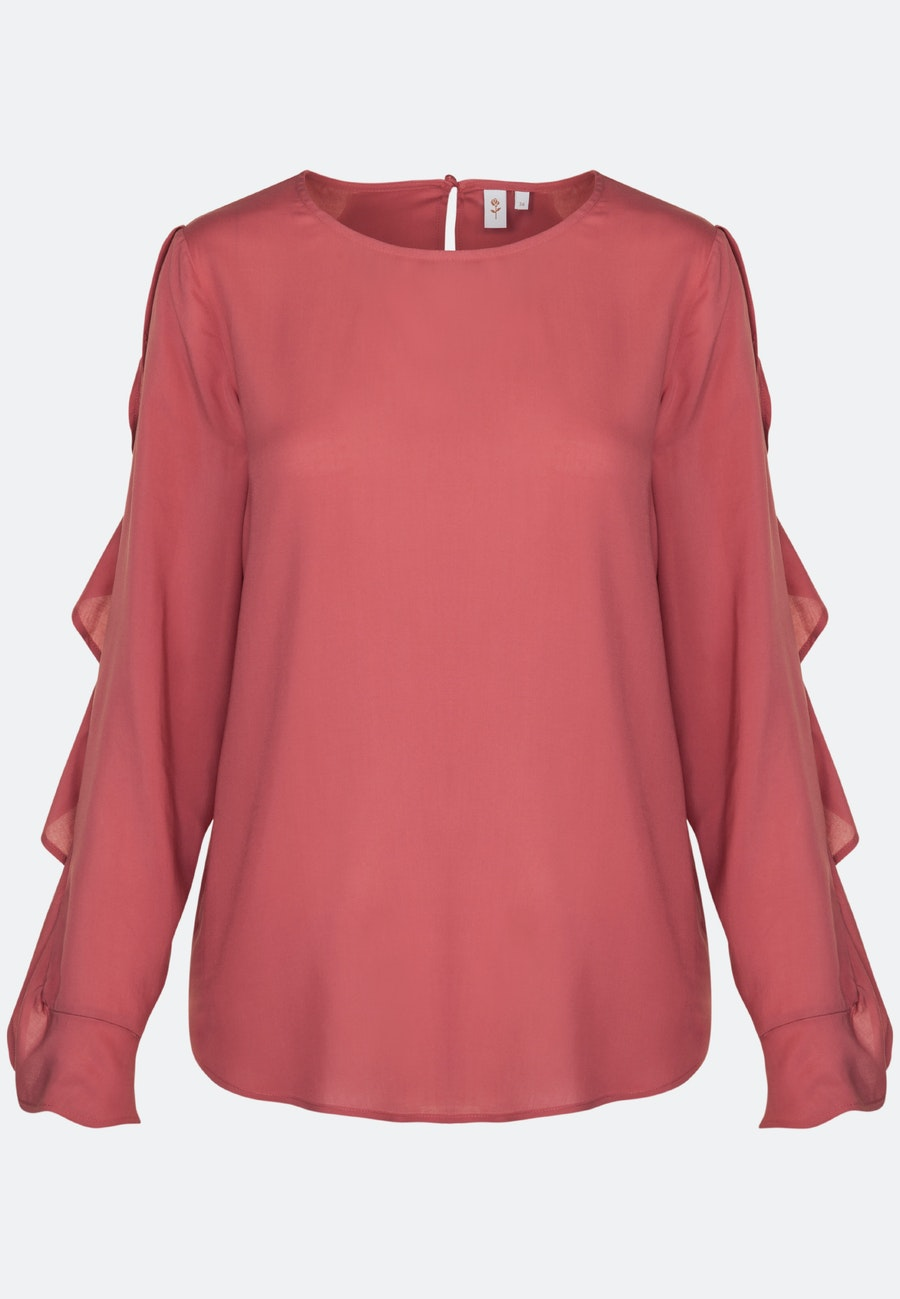 Voile Shirt Blouse made of 100% Viskose in Red |  Seidensticker Onlineshop