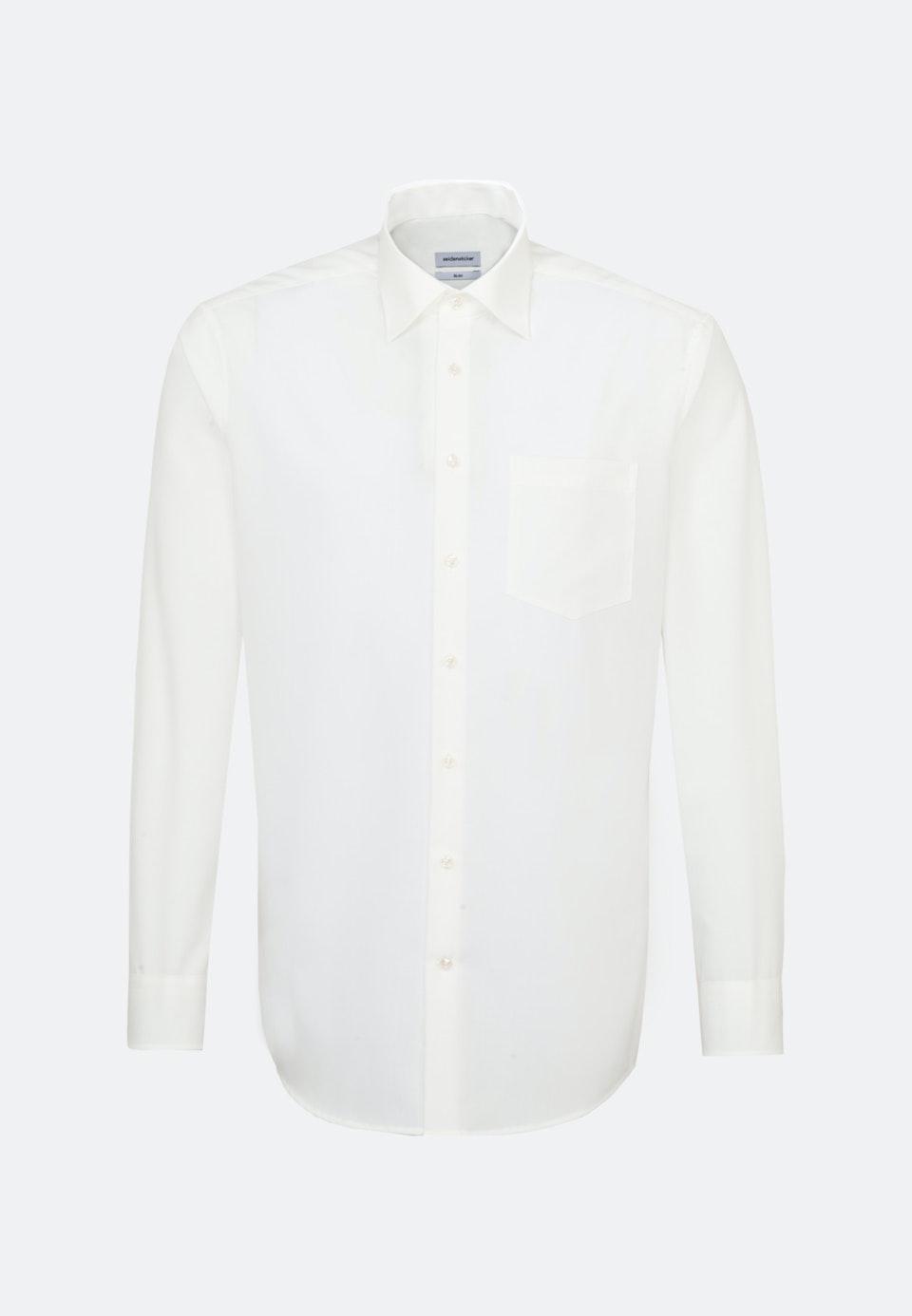 Bügelfreies Popeline Business Hemd in Regular mit Kentkragen in Ecru |  Seidensticker Onlineshop