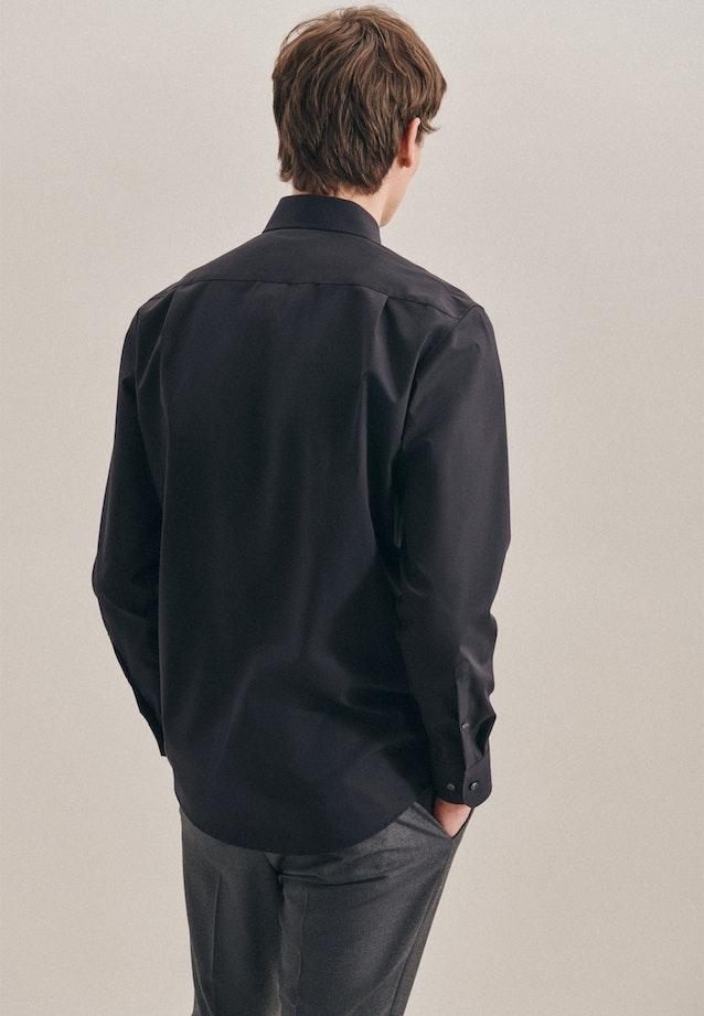 Non-iron Popeline Business Shirt in Regular with Kent-Collar in Black |  Seidensticker Onlineshop
