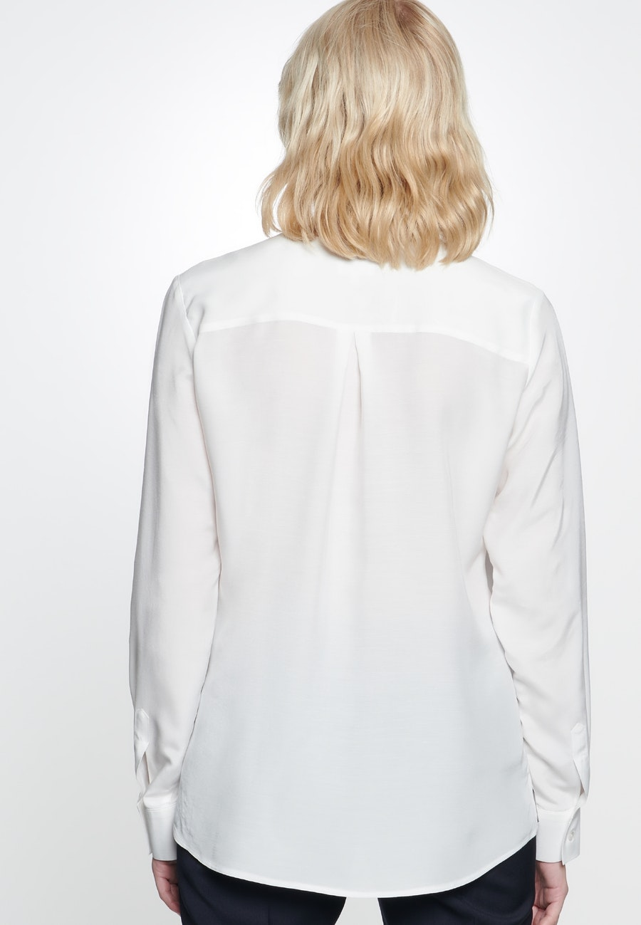 Voile Slip Over Blouse made of 100% Viscose in Ecru |  Seidensticker Onlineshop