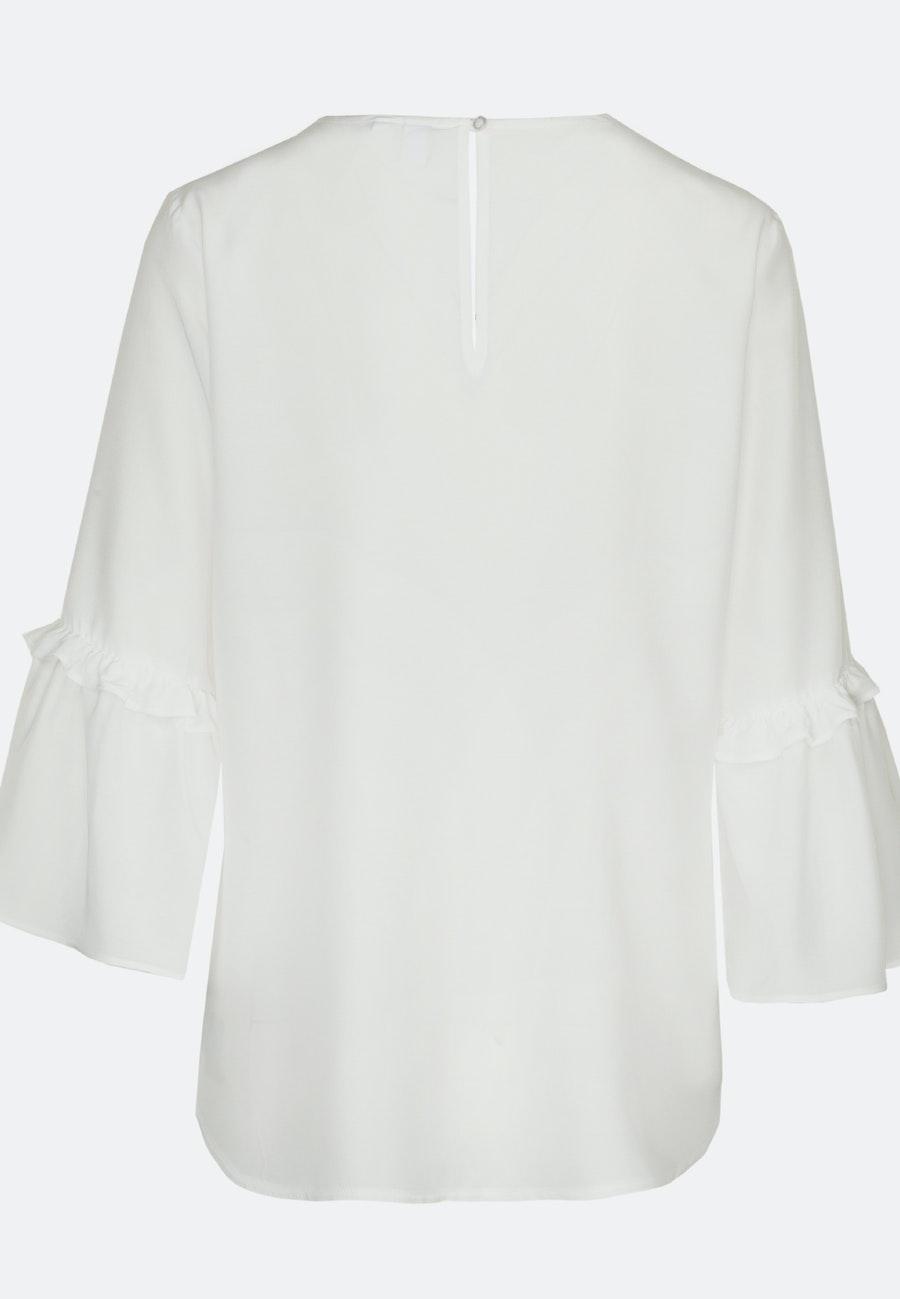3/4 sleeve Voile Shirt Blouse aus 100% Viscose in White |  Seidensticker Onlineshop