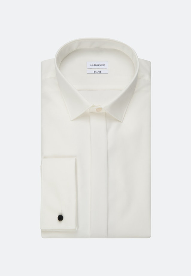 Non-iron Popeline Gala Shirt in Shaped with Kent-Collar in Ecru |  Seidensticker Onlineshop