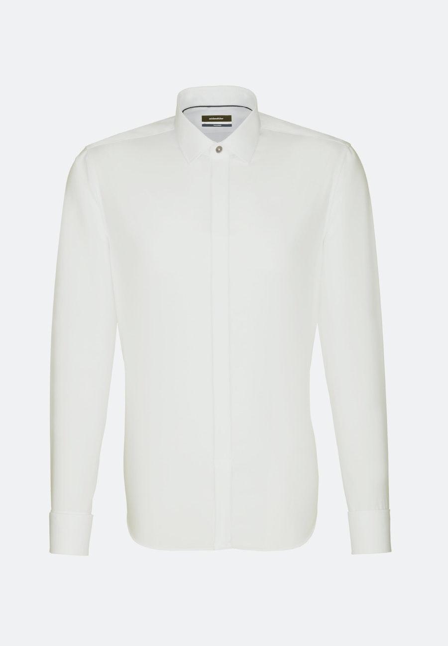 Non-iron Popeline Gala Shirt in Shaped with Kent-Collar in Ecru |  Seidensticker Onlineshop