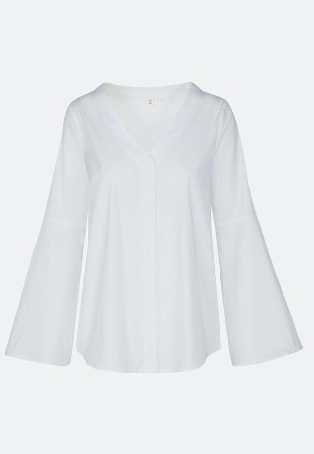 Popeline Tunika aus Baumwollmischung in Weiß |  Seidensticker Onlineshop