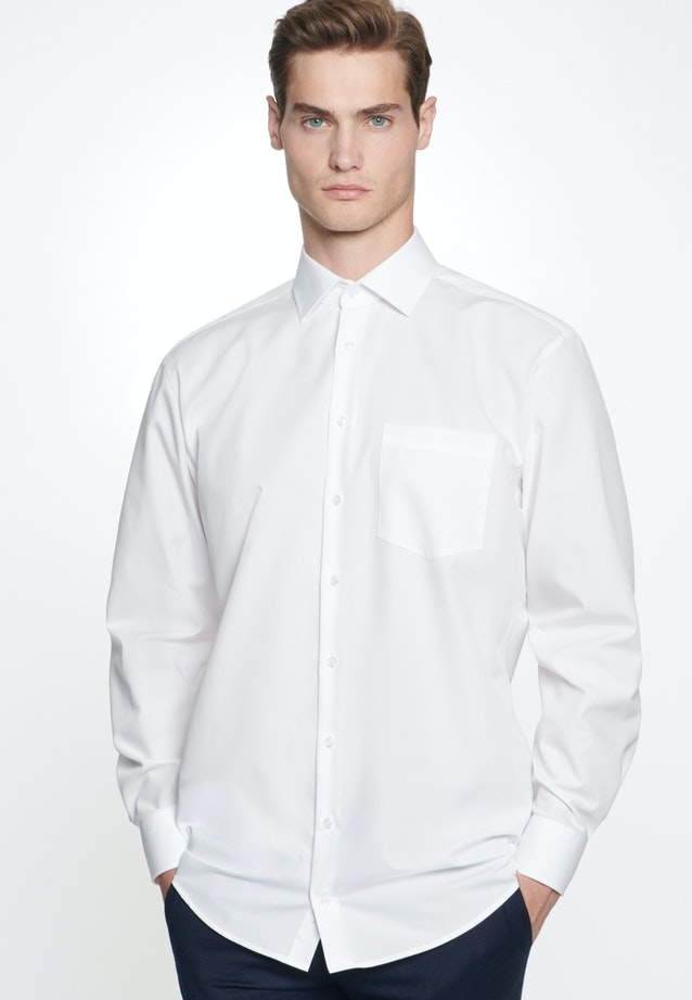 Non-iron Fil a fil Business Shirt in Regular with Kent-Collar in White |  Seidensticker Onlineshop
