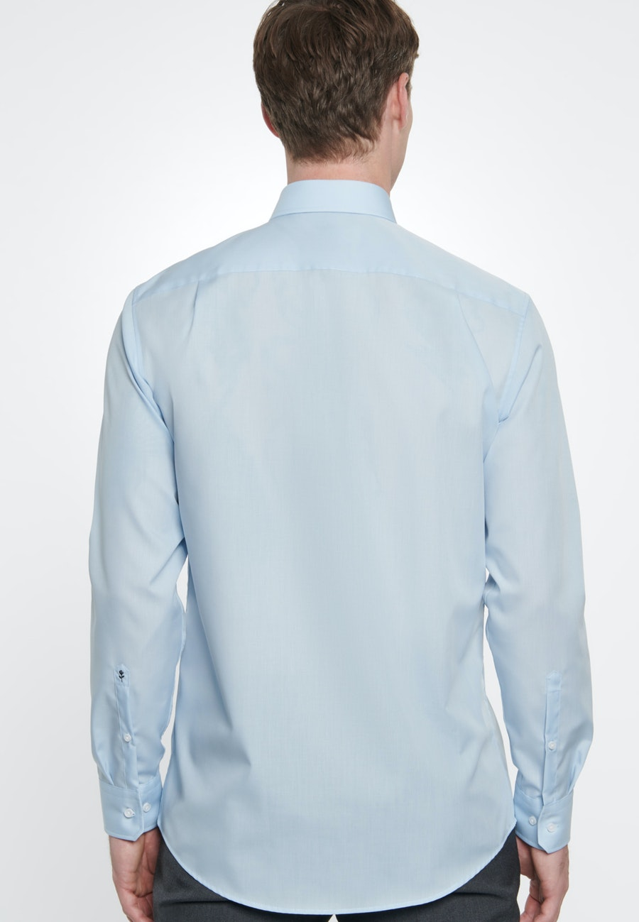 Bügelfreies Fil a fil Business Hemd in Regular mit Kentkragen in Hellblau    Seidensticker Onlineshop