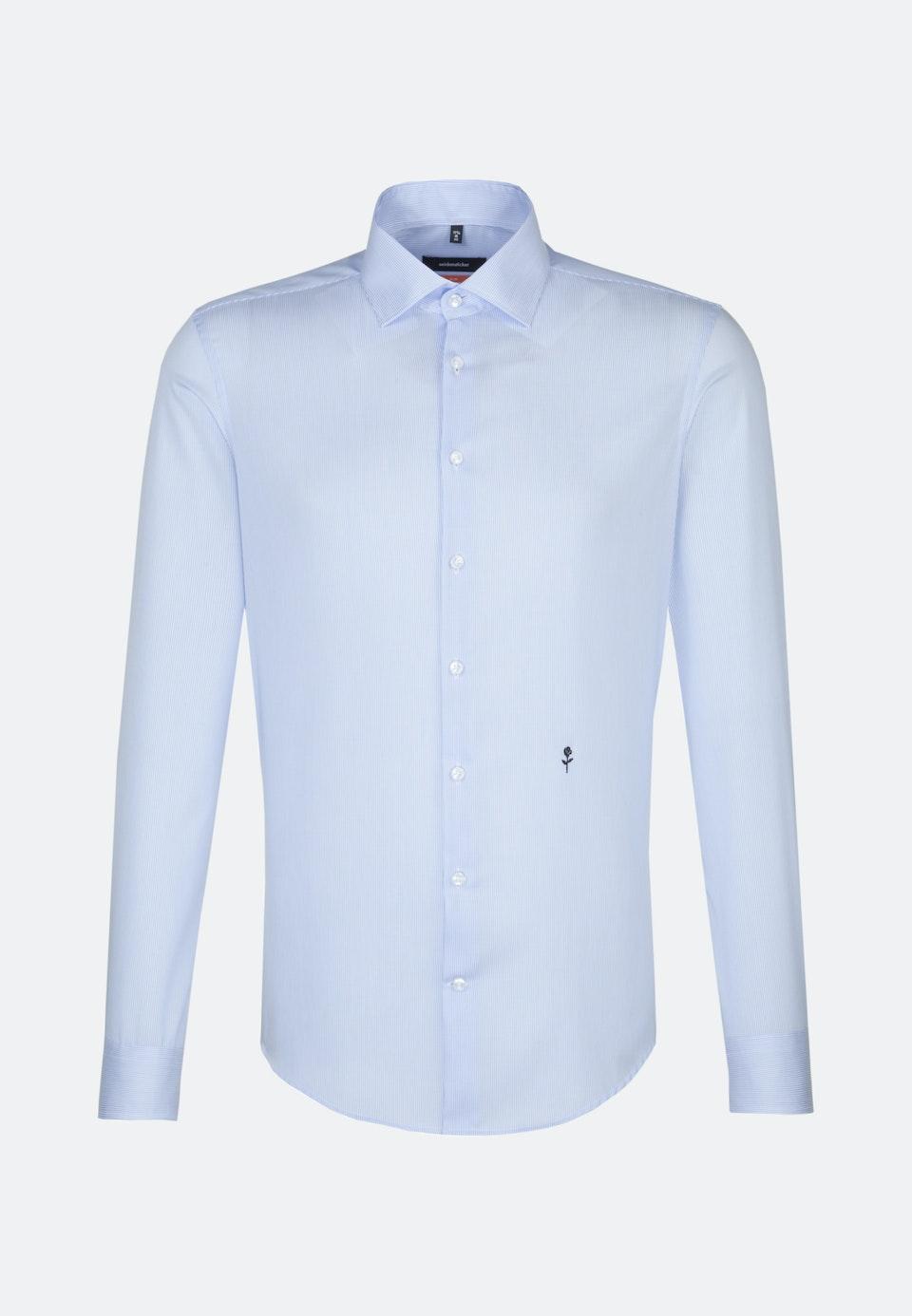 Non-iron Twill Business Shirt in Slim with Kent-Collar in Light blue |  Seidensticker Onlineshop