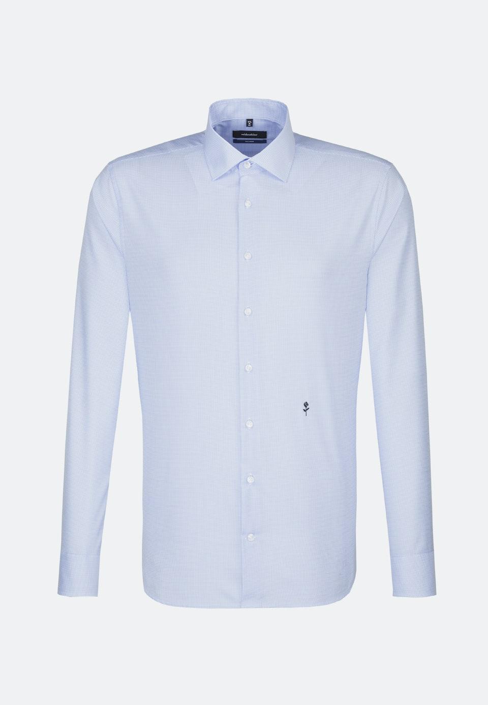 Non-iron Twill Business Shirt in Shaped with Kent-Collar in Medium blue |  Seidensticker Onlineshop