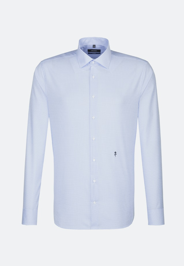 Non-iron Twill Business Shirt in Shaped with Kent-Collar in Medium blue |  Seidensticker Onlineshop