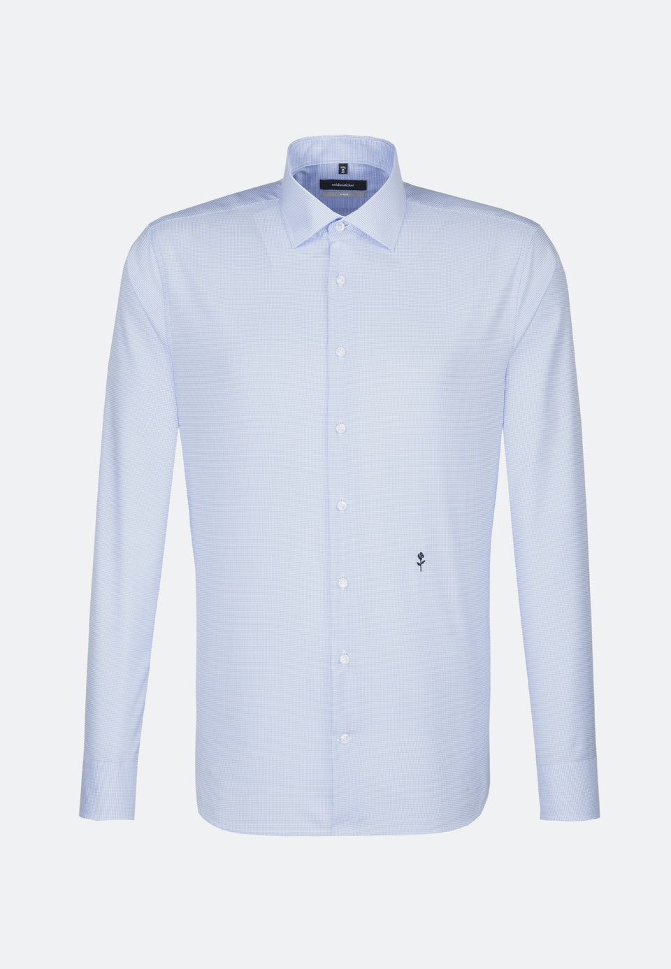 Non-iron Twill Business Shirt in X-Slim with Kent-Collar in Medium blue |  Seidensticker Onlineshop