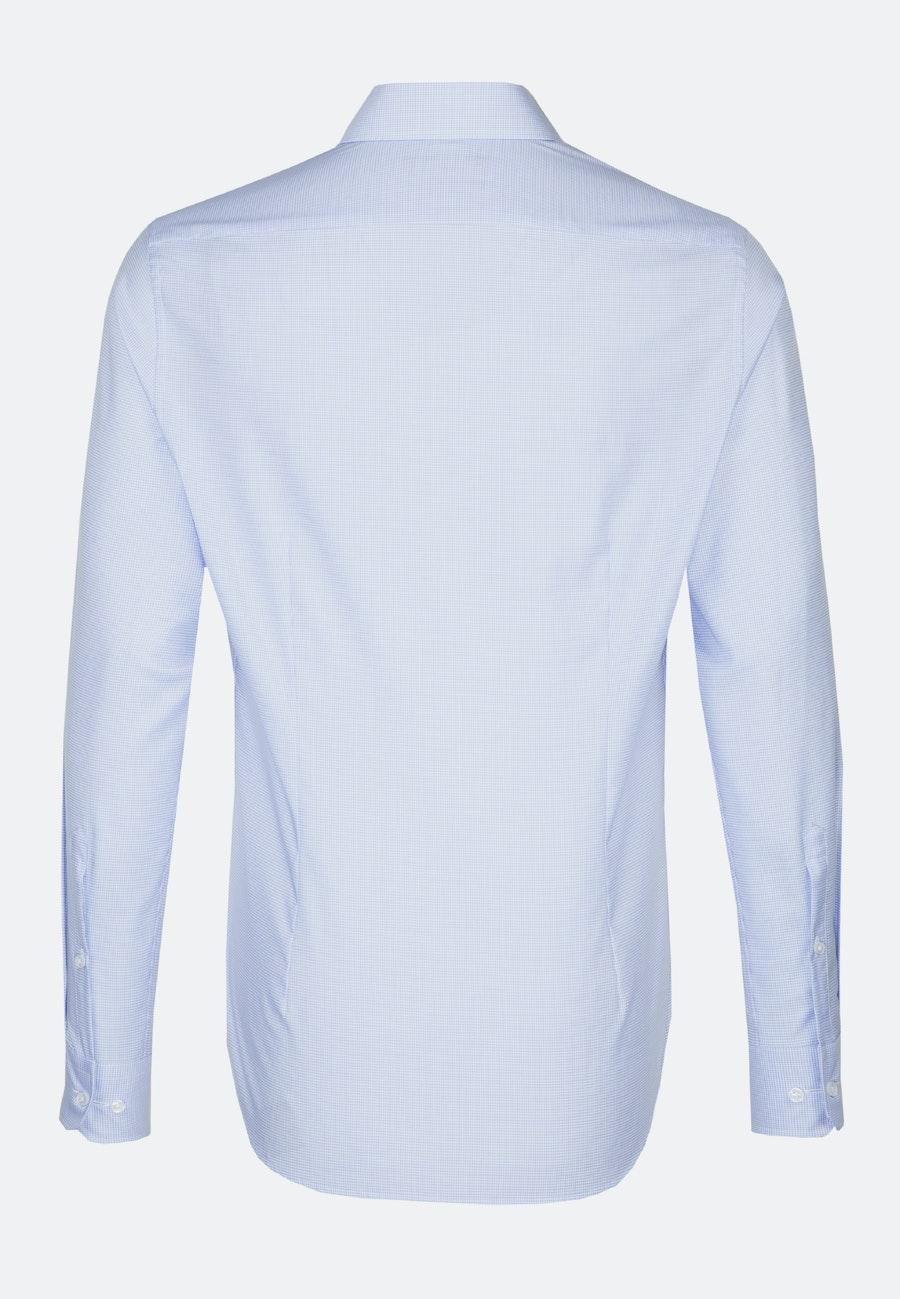 Bügelfreies Twill Business Hemd in X-Slim mit Kentkragen in Mittelblau |  Seidensticker Onlineshop