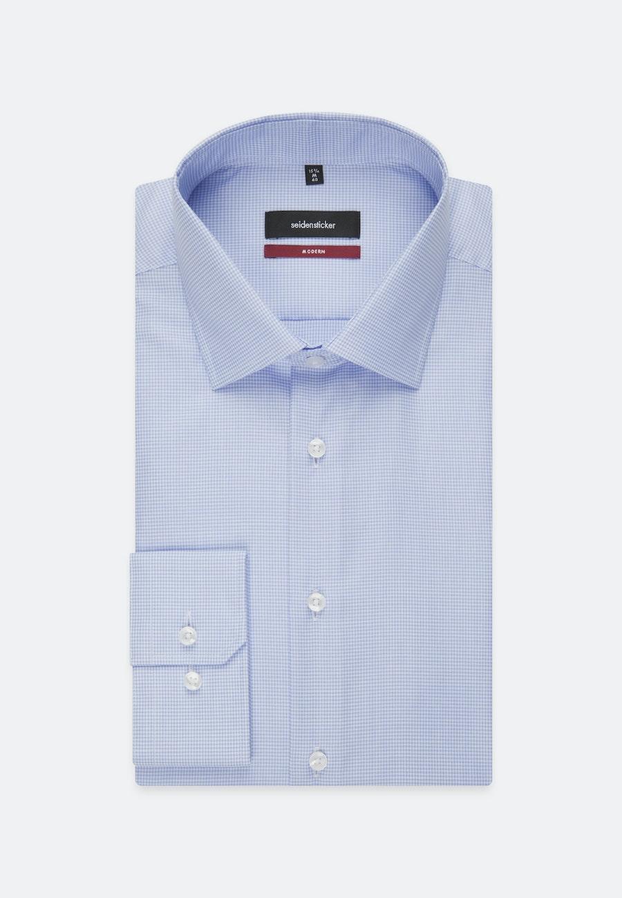 Bügelfreies Twill Business Hemd in Regular mit Kentkragen in Mittelblau    Seidensticker Onlineshop