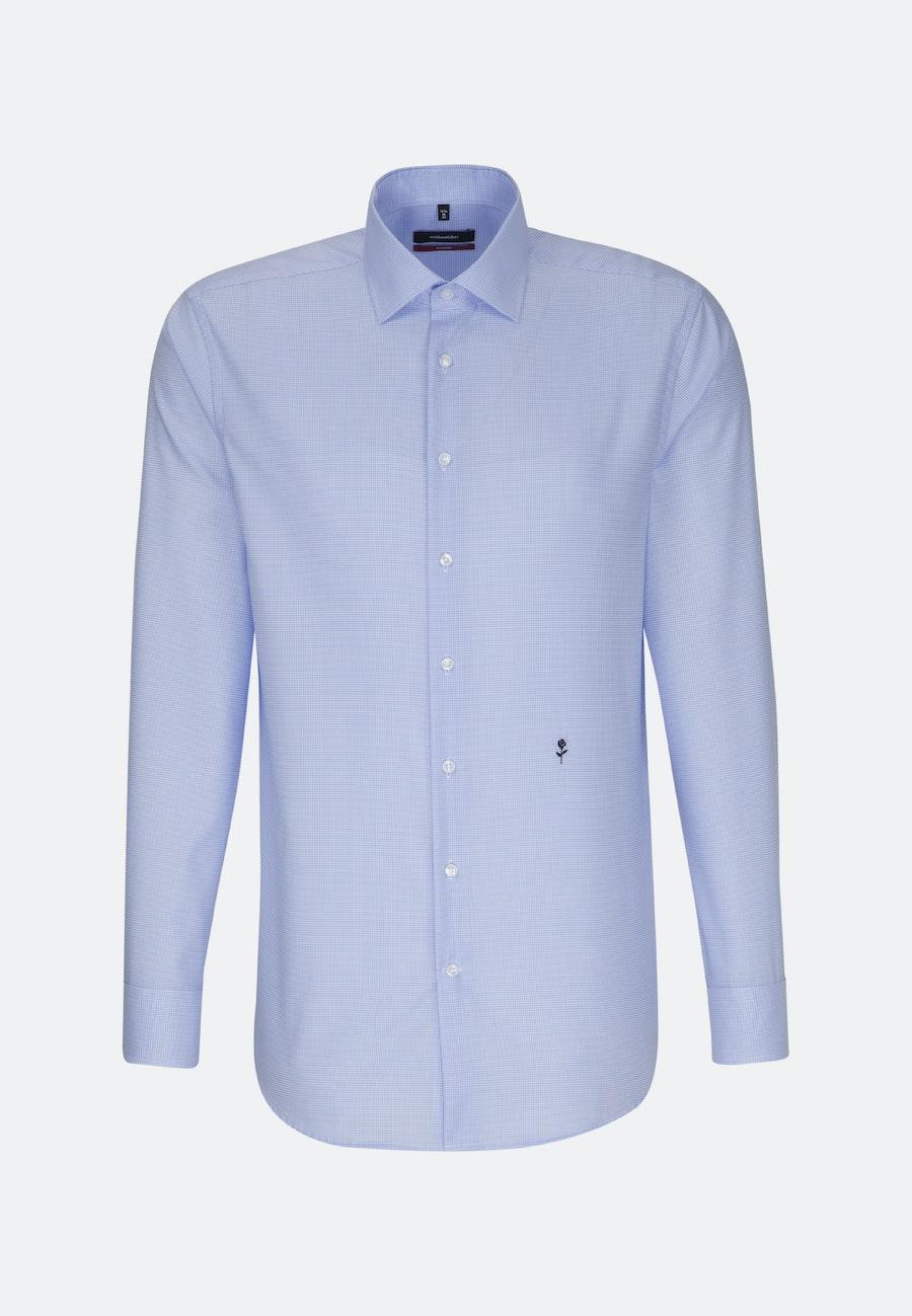 Bügelfreies Twill Business Hemd in Regular mit Kentkragen in Mittelblau |  Seidensticker Onlineshop