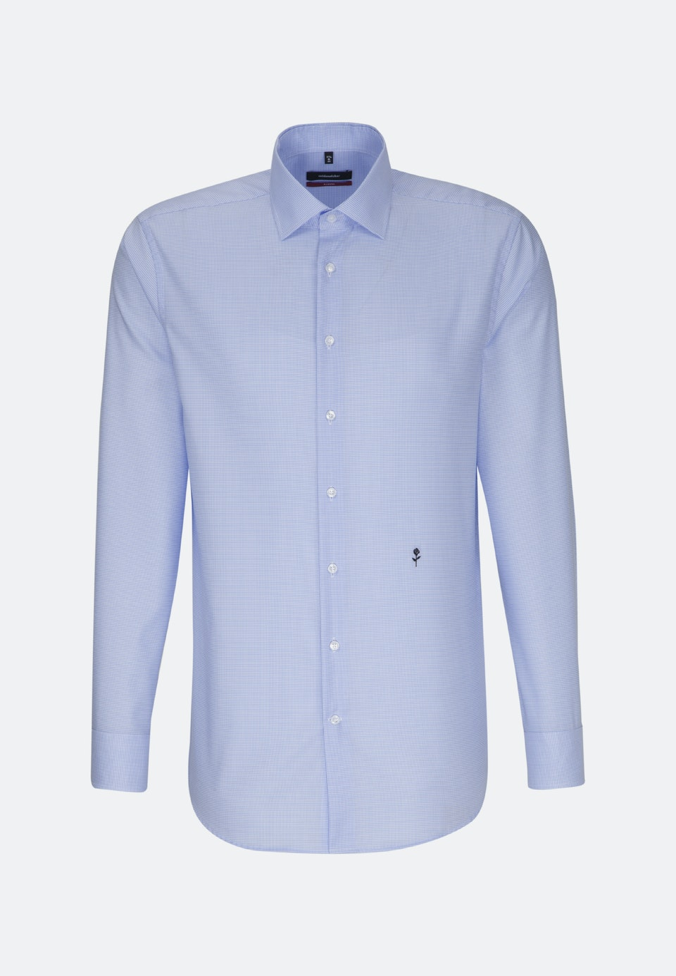 Non-iron Twill Business Shirt in Regular with Kent-Collar in Medium blue |  Seidensticker Onlineshop