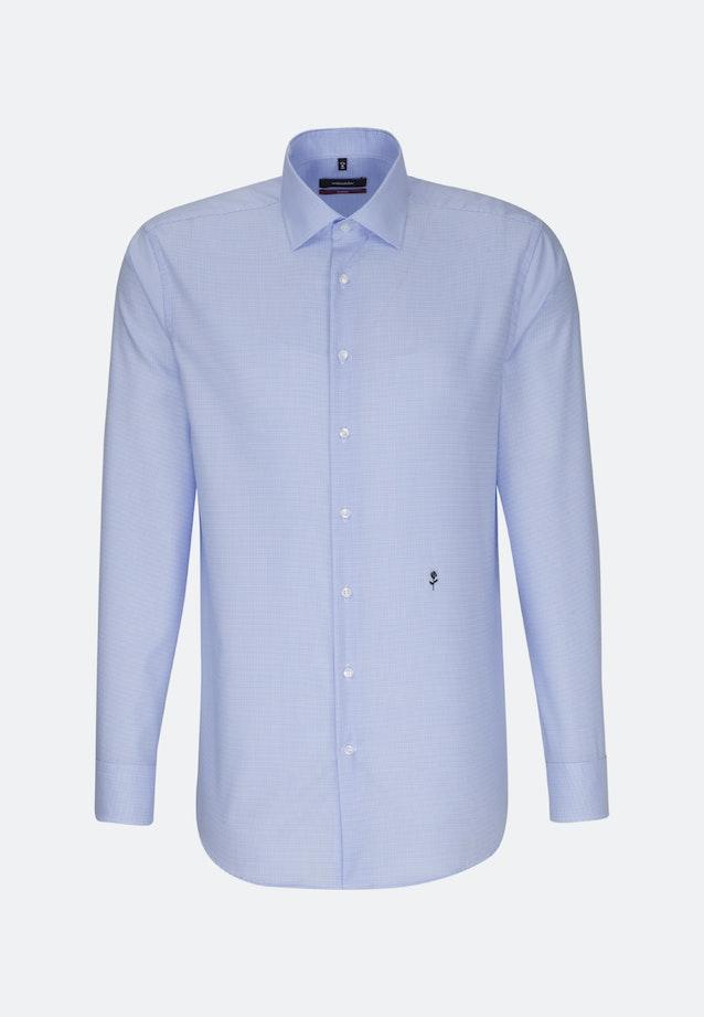 Non-iron Twill Business Shirt in Regular with Kent-Collar in Medium blue |  Seidensticker Onlineshop