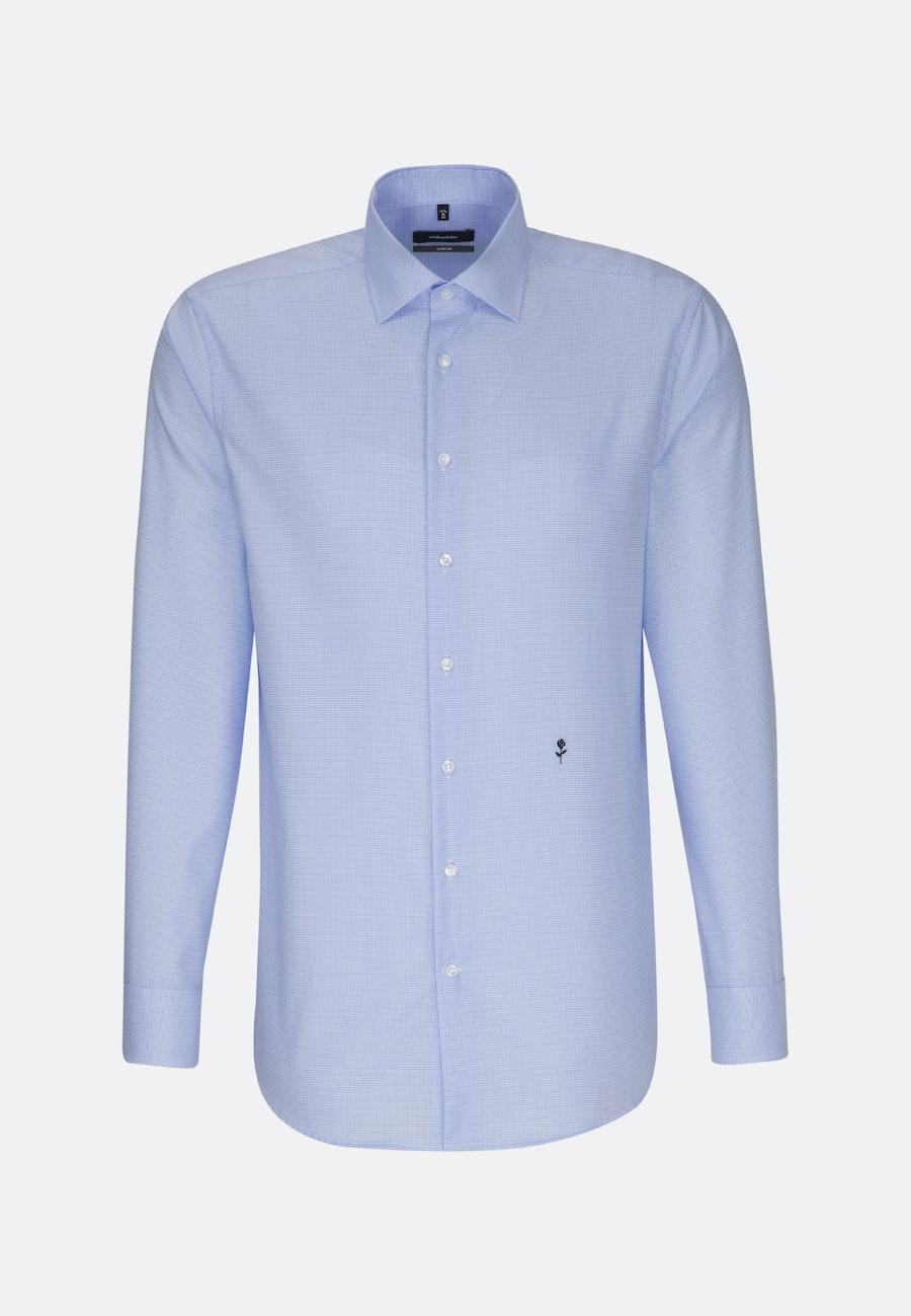 Bügelfreies Twill Business Hemd in Comfort mit Kentkragen in Mittelblau |  Seidensticker Onlineshop