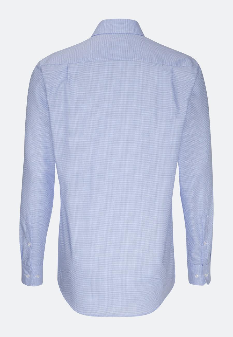 Non-iron Twill Business Shirt in Comfort with Kent-Collar in Medium blue |  Seidensticker Onlineshop