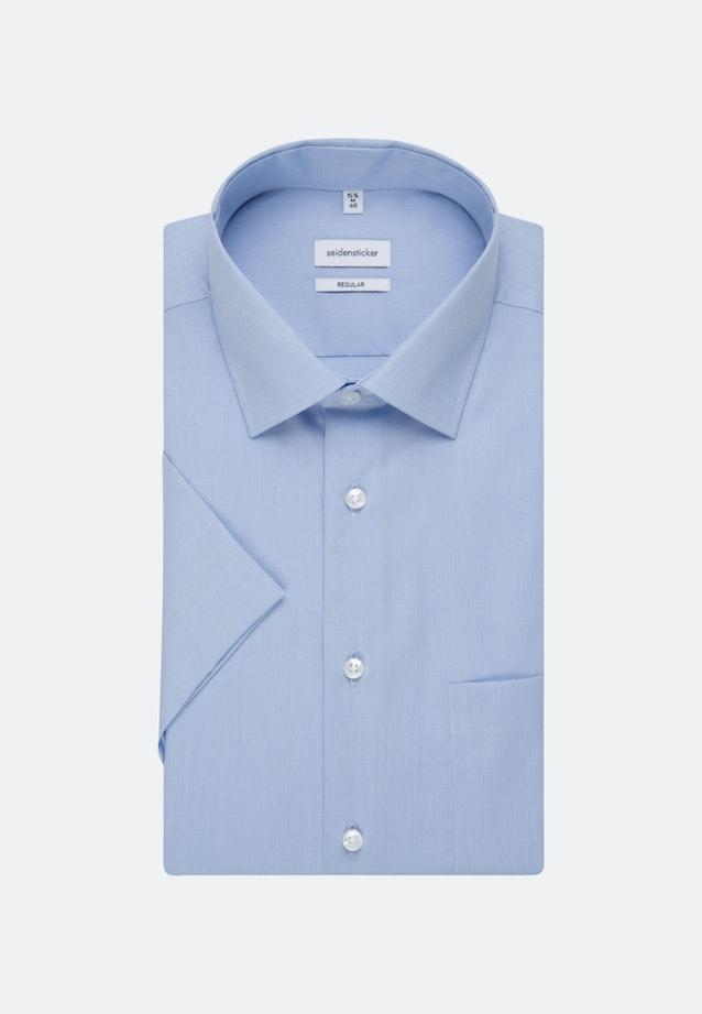 Bügelfreies Fil a fil Kurzarm Business Hemd in Regular mit Kentkragen in Hellblau    Seidensticker Onlineshop