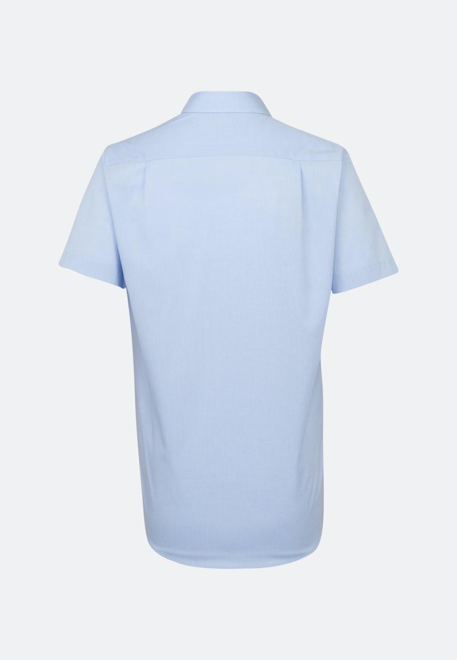 Non-iron Fil a fil Short sleeve Business Shirt in Regular with Kent-Collar in Light blue |  Seidensticker Onlineshop