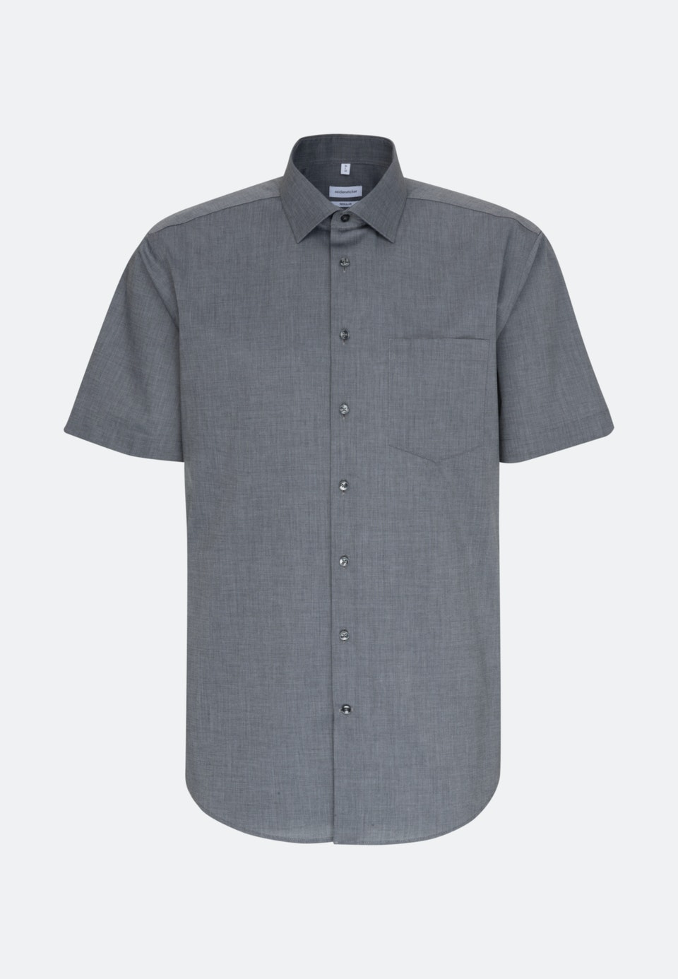Bügelfreies Fil a fil Kurzarm Business Hemd in Regular mit Kentkragen in Grau    Seidensticker Onlineshop