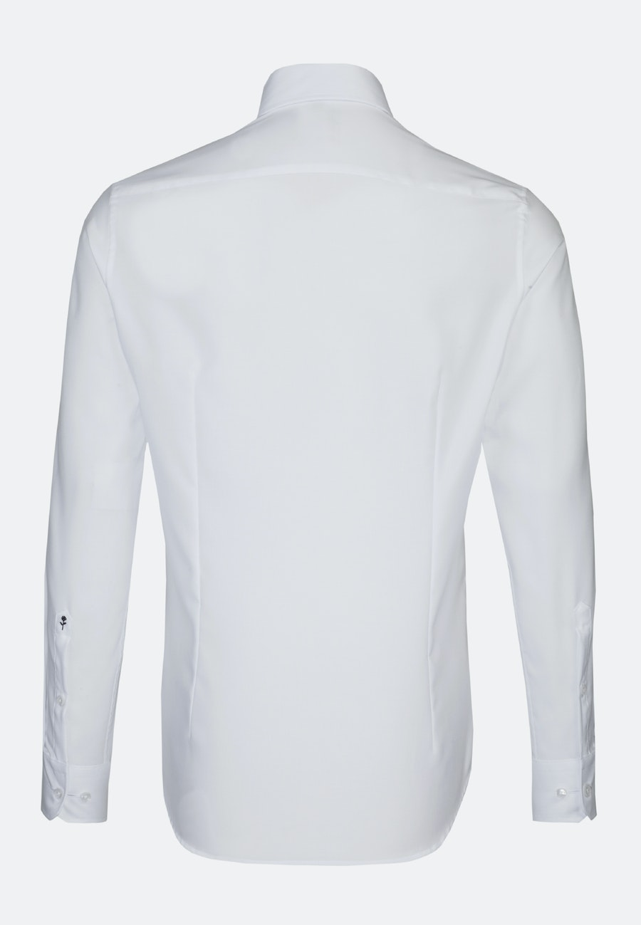 Non-iron Oxford Business Shirt in Shaped with Button-Down-Collar in White    Seidensticker Onlineshop