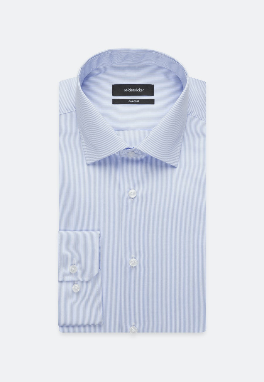 Non-iron Twill Business Shirt in Comfort with Kent-Collar in Light blue |  Seidensticker Onlineshop