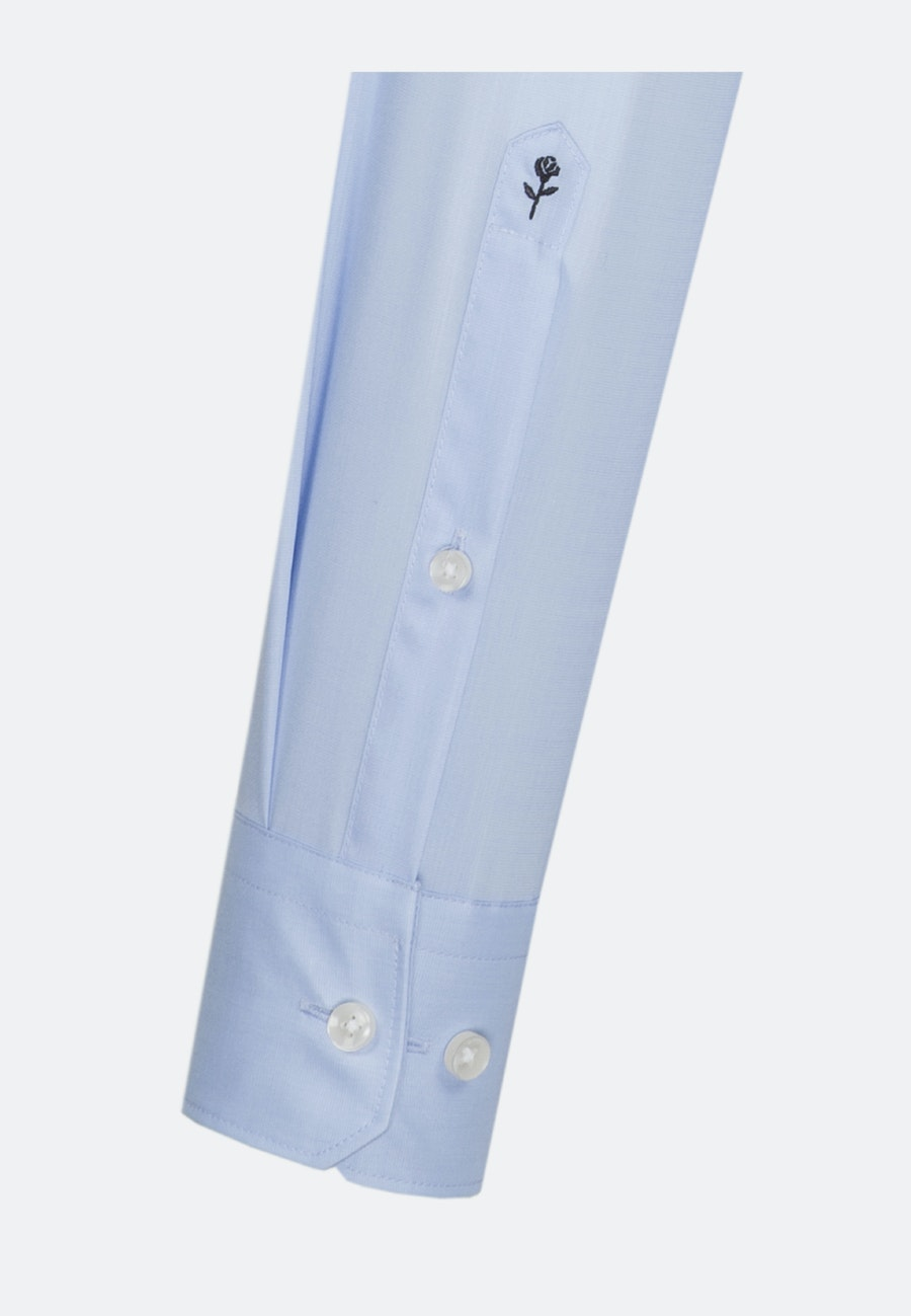 Non-iron Popeline Business Shirt in X-Slim with Kent-Collar and extra long sleeve in Light blue |  Seidensticker Onlineshop