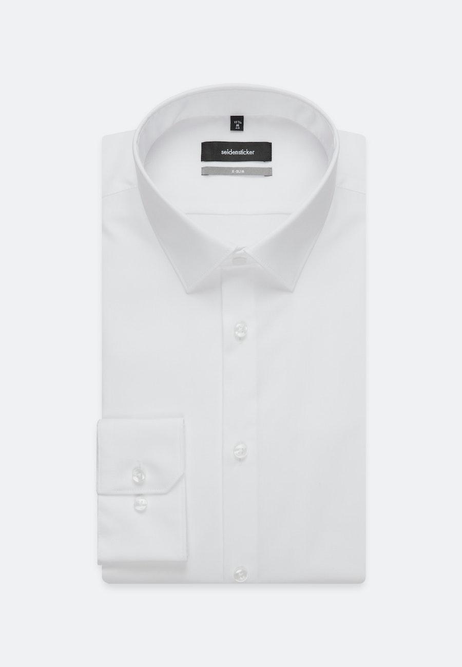 Bügelfreies Popeline Business Hemd in X-Slim mit Kentkragen und extra langem Arm in Weiß |  Seidensticker Onlineshop