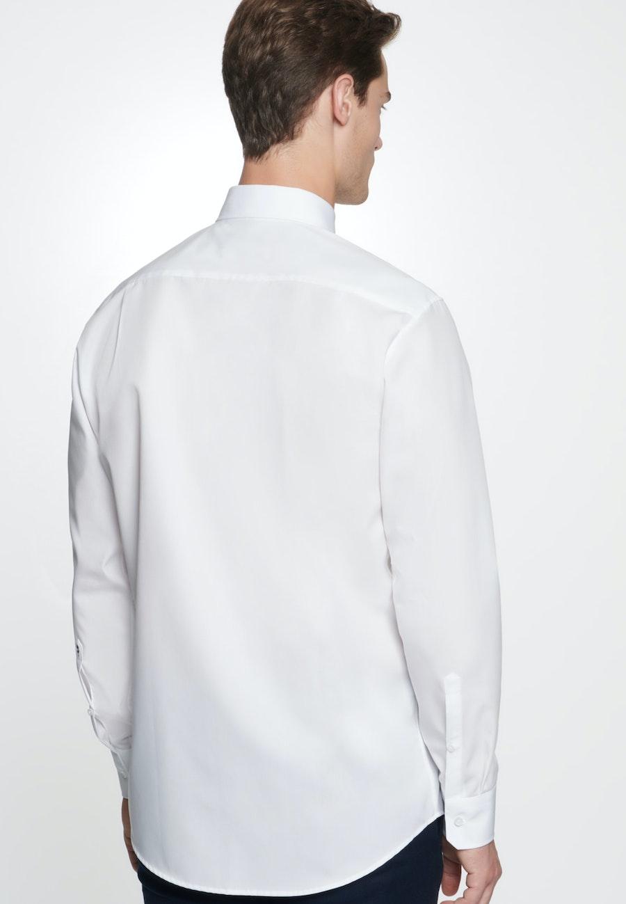 Non-iron Popeline Business Shirt in Regular with Button-Down-Collar in White |  Seidensticker Onlineshop