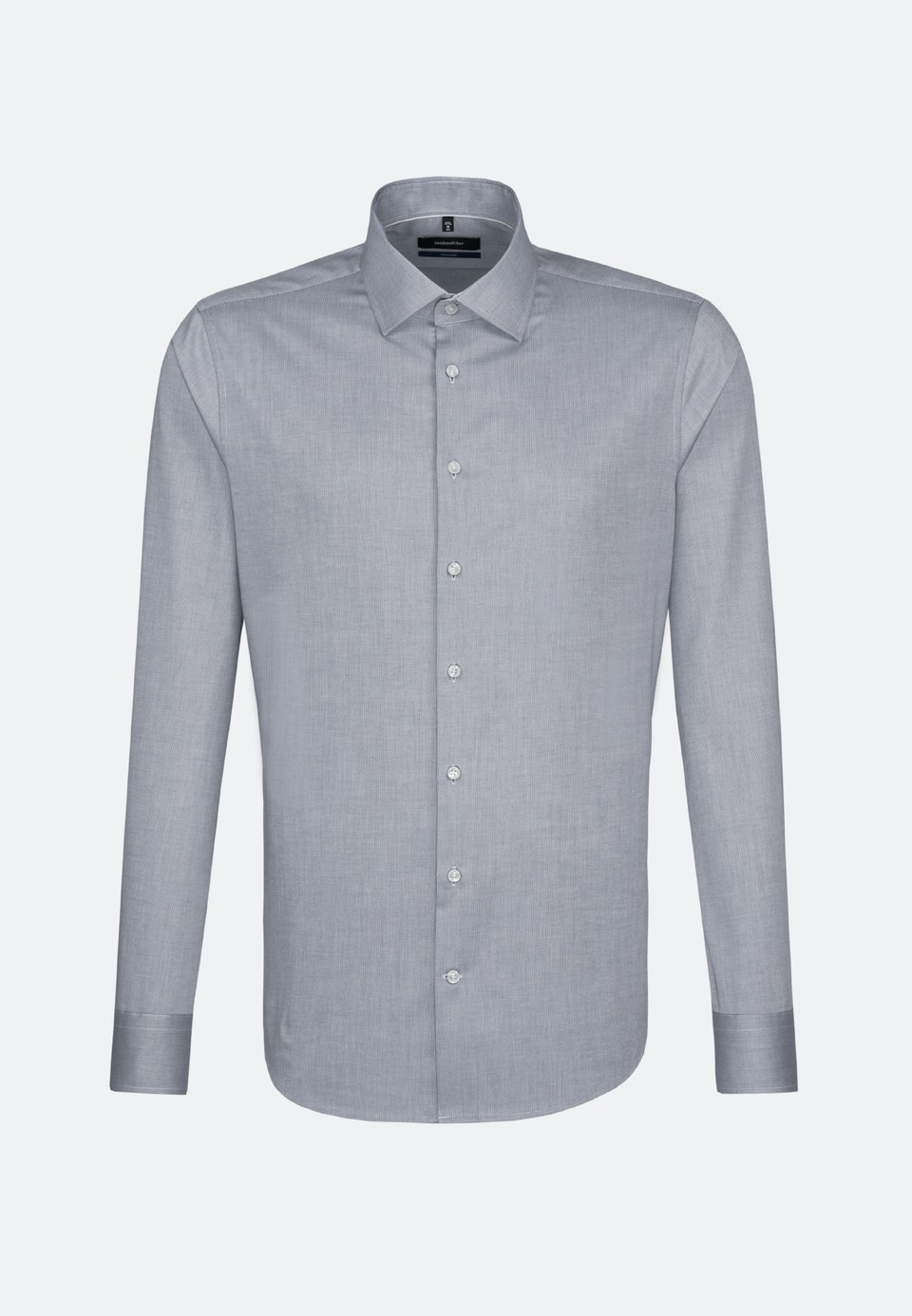Non-iron Structure Business Shirt in Shaped with Kent-Collar in Grey |  Seidensticker Onlineshop