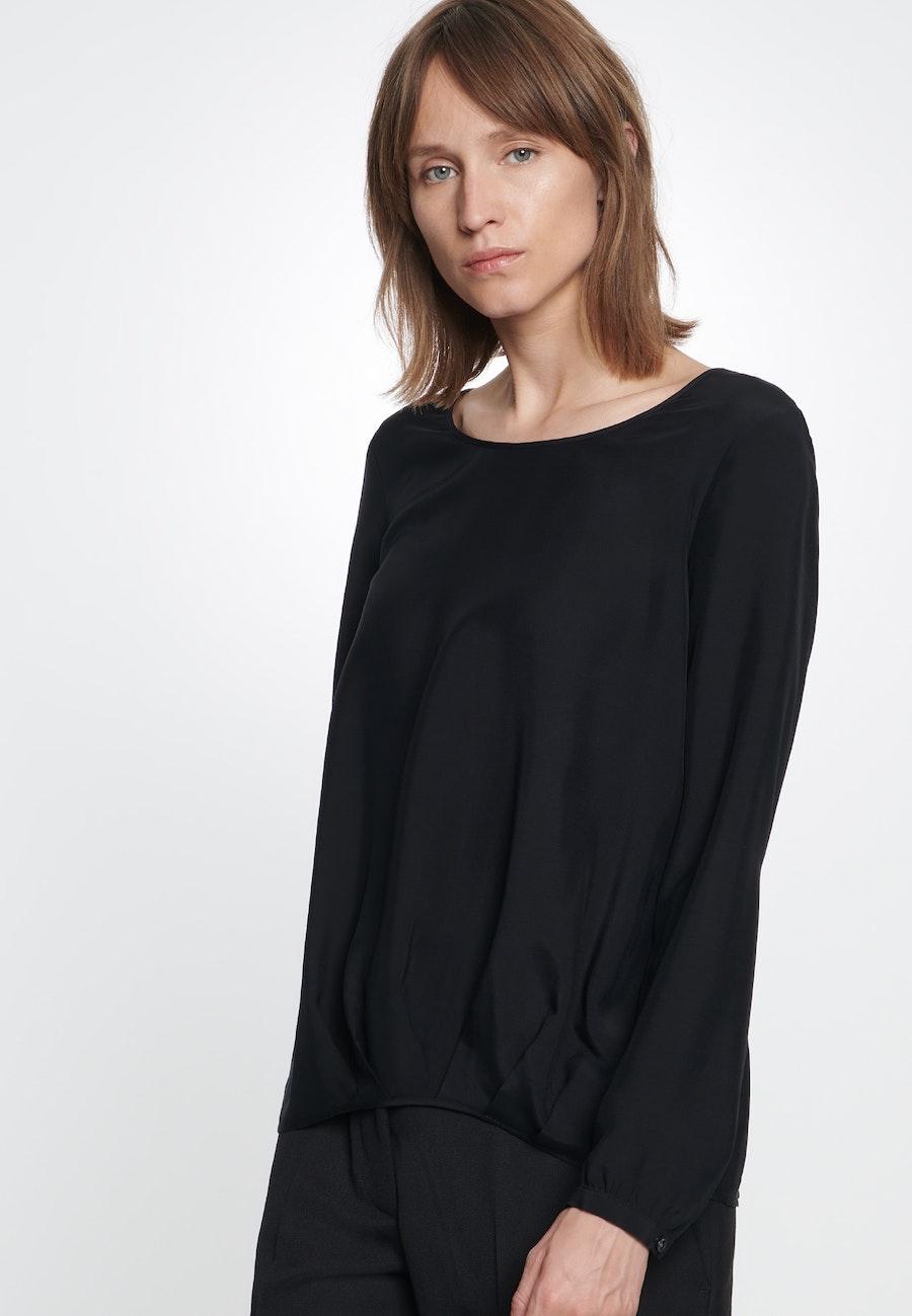 Voile Shirtbluse aus 100% Viskose in Schwarz |  Seidensticker Onlineshop